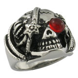 Factory Stainless Steel Jewelry Crystal Knight Ring