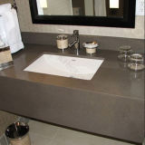Brown Color Artificial Quartz Stone Bathroom Vanity Top