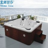 2.2 Meters Deluxe Hotel Square Oudoor SPA Tub