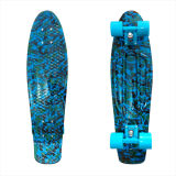 27inch PP Mini Skateboard Cruiser Complete Skateboards Banana Skateboard Blue Camo-2