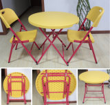 Small and Solid Round Plastic Folding Table