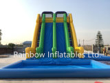 Inflatable Summer Giant High Water Slide with Pool for Amusement Park