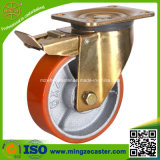 Total Brake Medium Duty PU Wheels Caster