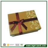 Wholesale Paper Chocolate Packing Box with Patterns and Ribbon