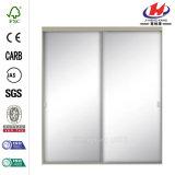 48 in. X 80.5 in. Bright Mirrored Aluminum Sliding Door