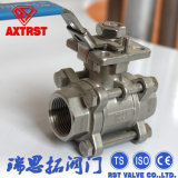 High Mounting 3PC Floating Ball Valve with Locking Handle