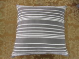 Shutter Pleats Solid Grey Square Pillow