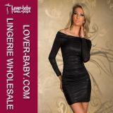 Women Black Club Dress for Evening (L2134-2)
