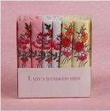 6 Piece 100% Cotton Gift Box Embroidery Handkerchief
