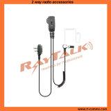2 Wire Surveillance Acoustic Tube Earpiece with Ptt EM-4342C