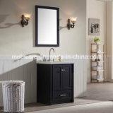 """25"""" Single Sink Solid Wood Bathroom Vanities in Black"""