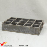 Antique Decorative Multi Divider Wooden Planter Boxes