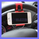 Portable Car Steering Wheel Phone Holder for iPhone 6 Plus Samsung Galaxy S6 LG HTC