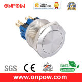 Onpow 25mm Metal Push Button Switch (GQ25-11/S, CE, RoHS Compliant)