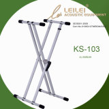 Knock-Down Double X Keyboard Stand/Ks-103