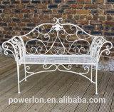 Classical Vintage Folding Wrought Iron Metal Outdoor Patio Garden Bench Chair (PL08-8574)