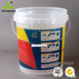 20L Clear Transparent Printed Plastic Pail with Clear Lid