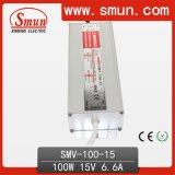 100W 15VDC 6.6A Waterproof IP67 AC DC LED Driver