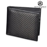 Hot Products Luxury Men Real Carbon Fiber Wallet Foldable