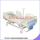 Bam300 3 Crank Manual Medical Bed with PE Plastic Side Rails