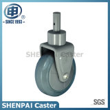 """5""""Fixed Rubber Medical Equipment Caster Wheel"""