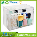 Custom Clear Small Acrylic Multi Purpose Makeup Box with Lid
