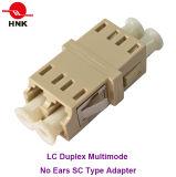 LC Duplex Multimode No Ears Sc Type Fiber Optic Adapter