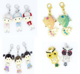 New Arrival Wholesale Alloy 3D Boys and Girls Enamel Charms for Teen