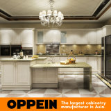 Classic Elegant Wood Lacquer Modular Kitchen Cabinets with Island (OP15-L31)