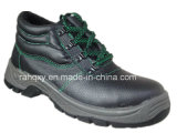 Split Embossed Leather Safety Shoes with Mesh Lineing (HQ602)