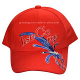 100% Cotton 6 Panels Baseball Cap with Custom Embroidery