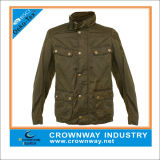 Spring/Autumn Men Cotton Minitary Jacket with Stand Collar