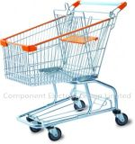 150L 4 Wheels Hand Pushing Shopping Trolley