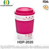 Reusable Double Wall Plastic Coffee Mug with Sleeve (HDP-2020)