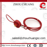 Colorful Useful Safety ABS Wheel Type Cable Lockout for Lock