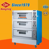 Hongling Electric Bakery Oven 3 Deck 6 Pans Oven