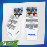 Electric Products Cardboard Paper Floor Display Shelf