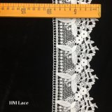 9.5cm Princess White Trimming Lace with Mesh Butterfly and Eyelet Hmw6220