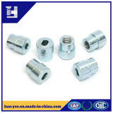 Zinc Plated Semi-Thread Nut with Hole in One Side
