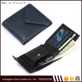 Travel Gift Card Wallet Men′s Genuine Leather Mini Coin Purse