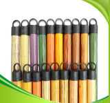 120cm PVC Coated Wooden Broom Handle