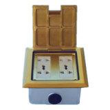 Square Golden AV Telephone Microphone 4 5 6gang Floor Socket