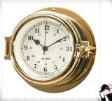 12 Hours Nautical Quartz Clock Brass Open Type Case Dia. 81mm