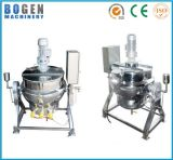 Stainless Steel Gas/Steam/Electric Heating Tilting Jacketed Cooking Pot/Jacket Kettle with Agitator