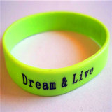 1 Inch Width Silicone Wristbands Promotional Gifts Free