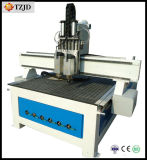 Professional 2 Heads Pneumatic 3D Woodworking CNC Router Machine
