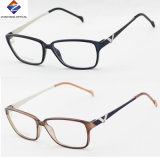 Hot Selling Design Tr90 Eyeglass Optical Frames with Metal Temples