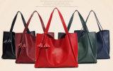 New Design European Style Custom Famous Brand Tote Dual Use Single Shoulder Leopard Grain Genuine Leather Cowhide Lady's Bag