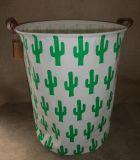 Foldable Reusable Canvas Laundry Basket Dirty Clothes Basket