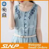 Sleeveless Fashion Embroidery Dress Ladies Wear